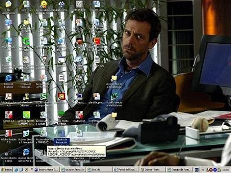 Mi escritorio y el suyo...